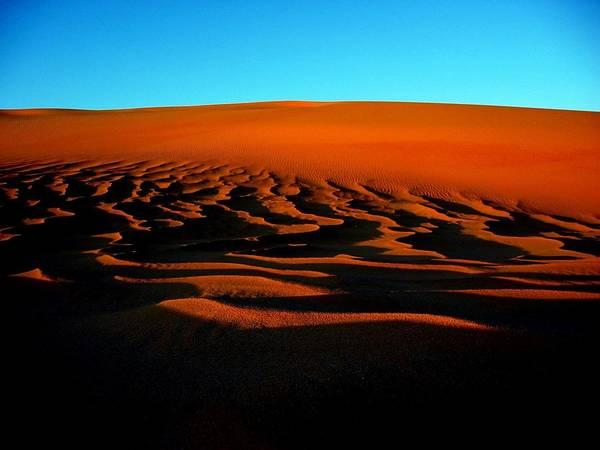 Horizontal Art Print featuring the photograph Sunset On The Ubari Sand Sea by Joe & Clair Carnegie / Libyan Soup