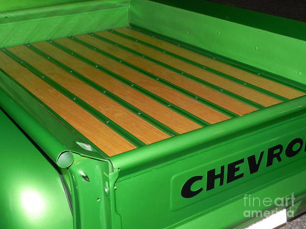 Chevy Pick Up Bed Art Print featuring the photograph Sweet Green Pea by Chuck Re