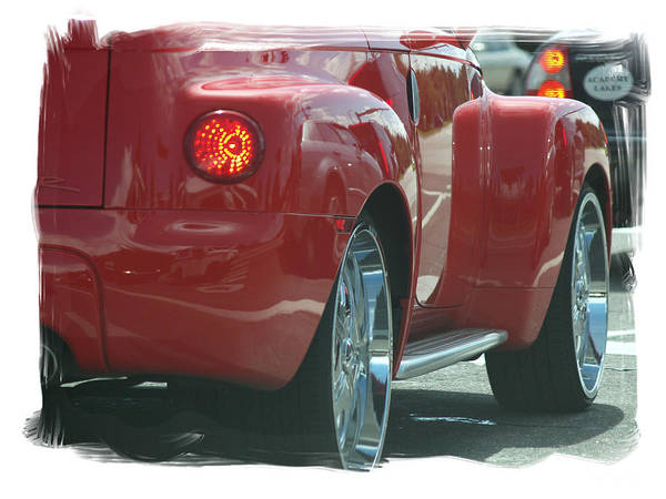 Cherry Red Cheve. Crome Art Print featuring the photograph Sweet Red Thang by Theo Bethel