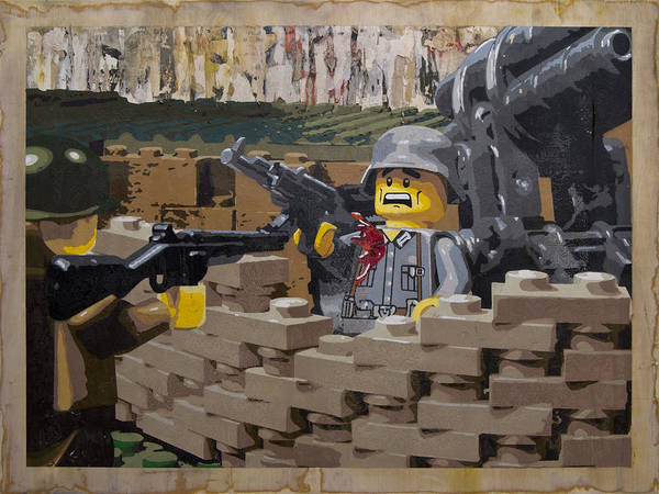 Lego Art Print featuring the painting Taking The Bunker by Josh Bernstein