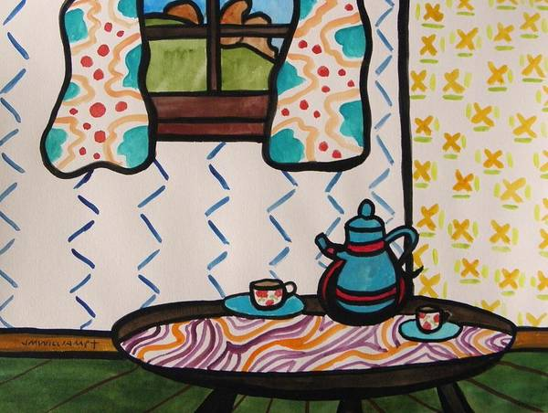 Tea Art Print featuring the painting Tea Time by John Williams