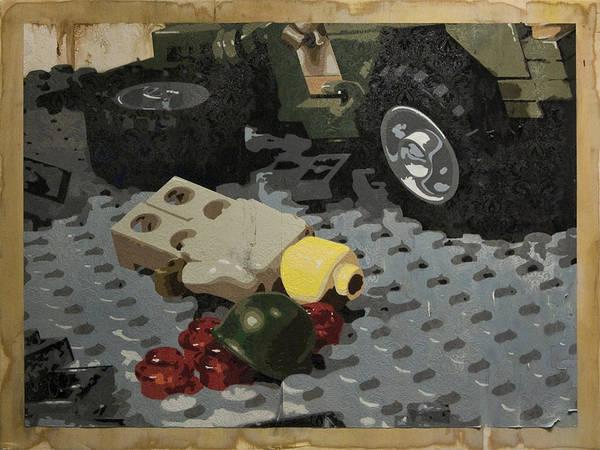 Lego Print featuring the painting Tellermine Aftermath by Josh Bernstein