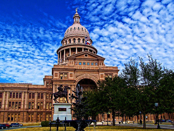 Texas Art Print featuring the photograph Texas Capitol Building by Ron Hall