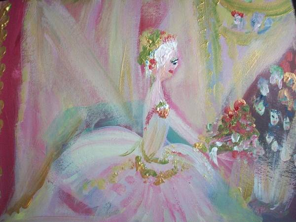 Ballet Art Print featuring the painting Thank You by Judith Desrosiers