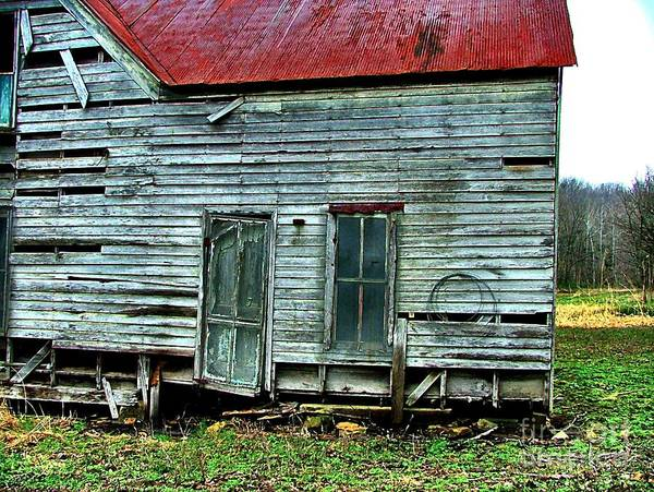 Old Abandoned Houses Art Print featuring the photograph That Old House Down By The Creek by Julie Dant