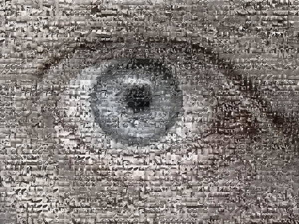 Collage Art Print featuring the digital art The Artist's Eye by Misha Dontsov
