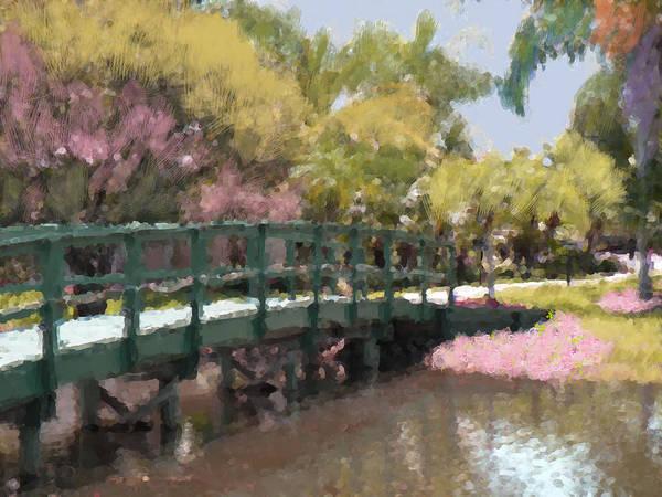 Bridge Art Print featuring the mixed media The Crossing by Rosalie Scanlon
