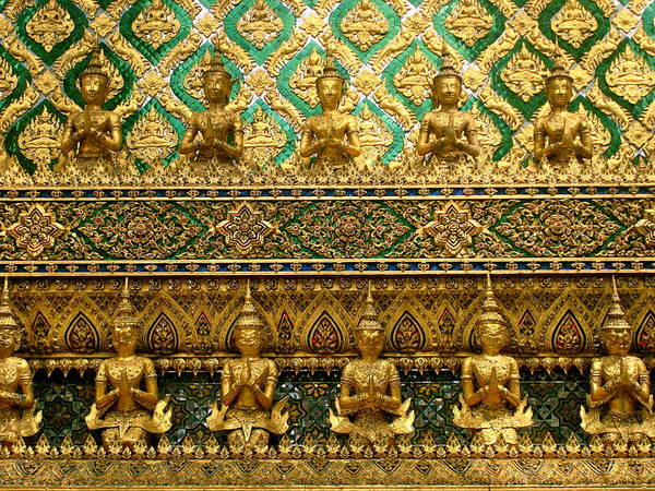 Gold Art Print featuring the photograph The Emerald Wall Of Prayer by Mia Sanchez
