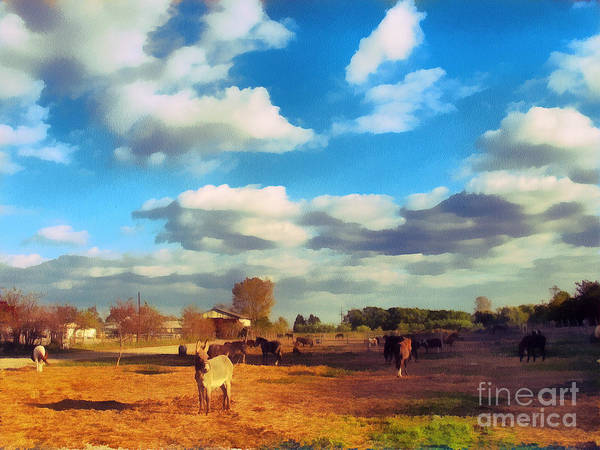 Odon Art Print featuring the painting The Farm by Odon Czintos