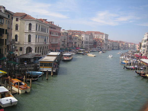 Grand Canal Art Print featuring the photograph The Grand Canal In The Morning by Angela Rose