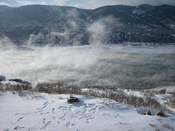 Horsetooth Art Print featuring the photograph The Mist by Cliff Johnson