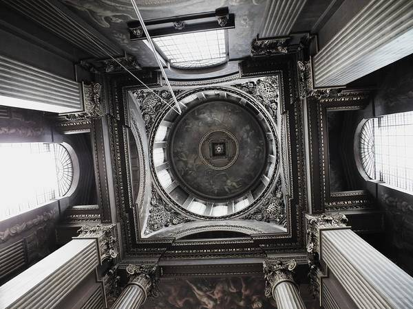 Architecture Art Print featuring the photograph The Painted Hall by Anna Villarreal Garbis