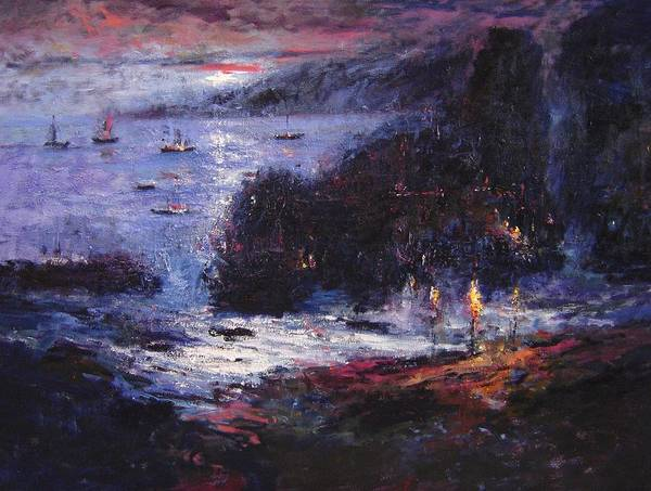 Pirates Art Print featuring the painting The Pirates Make Home Port by R W Goetting