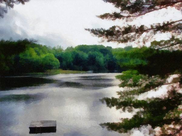 Sky Art Print featuring the photograph The Swimming Dock by Michelle Calkins