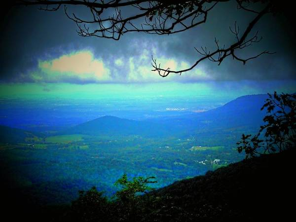 Mountain Art Print featuring the photograph The Valley by Michael L Kimble