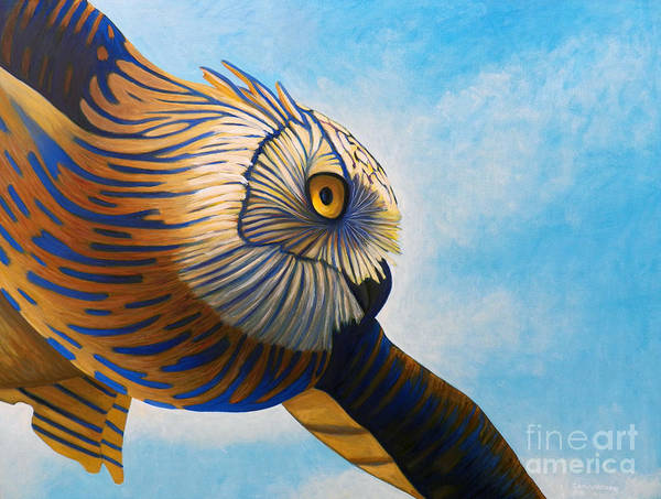 Owl Art Print featuring the painting Torchwood by Brian Commerford