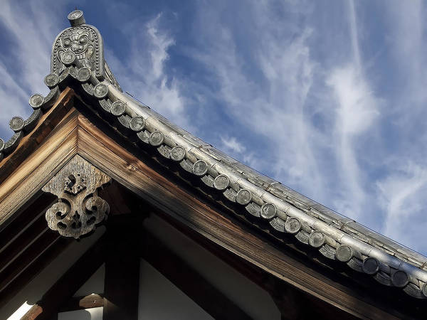 Japan Print featuring the photograph Toshodai-ji Temple Roof Gargoyle - Nara Japan by Daniel Hagerman