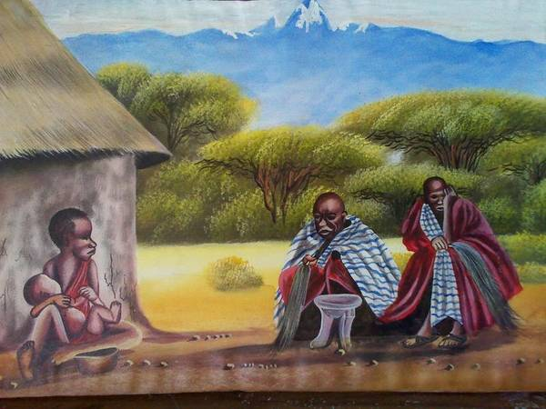 Art Print featuring the painting Traditional African Men by John