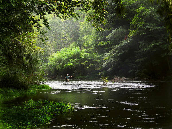 Fly Fishing Art Print featuring the photograph True Serenity by Ed Golden