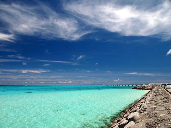 Horizontal Art Print featuring the photograph Turquoise Blue Sea by Takau99