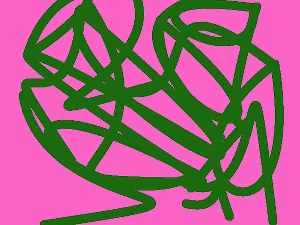 Knot Art Print featuring the painting Twisty Green Thing by Naomi Jacobs