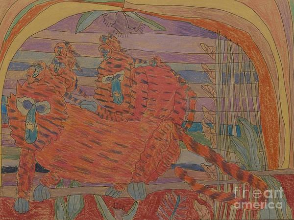 Art Print featuring the drawing Untitled by Stephanie Ward