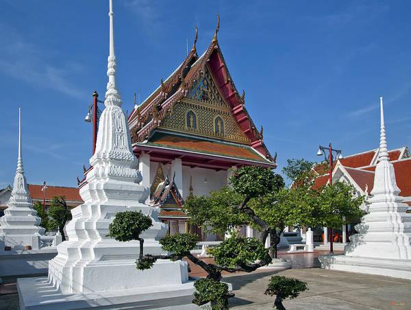 Bangkok Art Print featuring the photograph Wat Thong Nopphakhun Ubosot Dthb1169 by Gerry Gantt