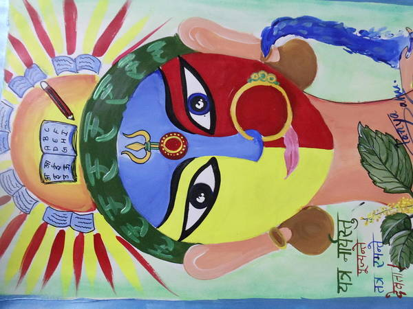 Love Art Print featuring the painting Women's Power by Tanya Sahu