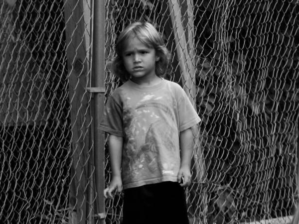 Kid Art Print featuring the photograph Worried Innocence by Jonathan Baca