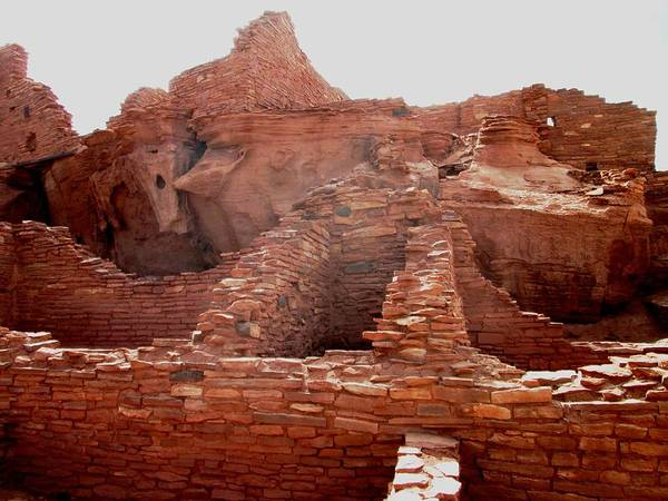 Pueblo Ruin Art Print featuring the photograph Wupatki National Monument by Pasha Sourbeer