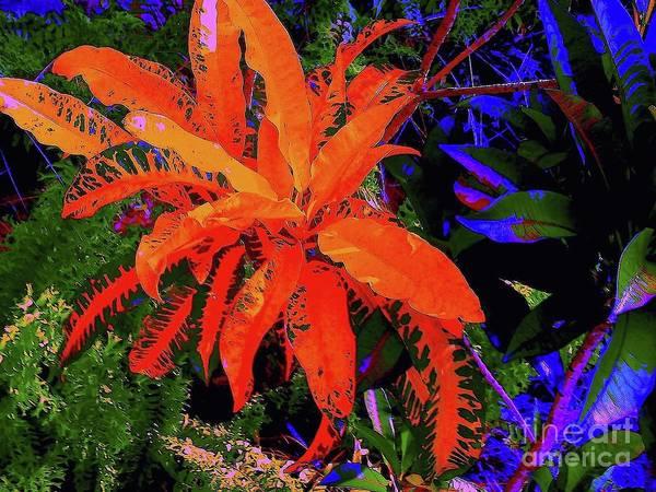 Digital Art Art Print featuring the digital art Yellow Plant 3 by Nina Kaye