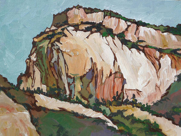 Zion Art Print featuring the painting Zion National Park by Sandy Tracey