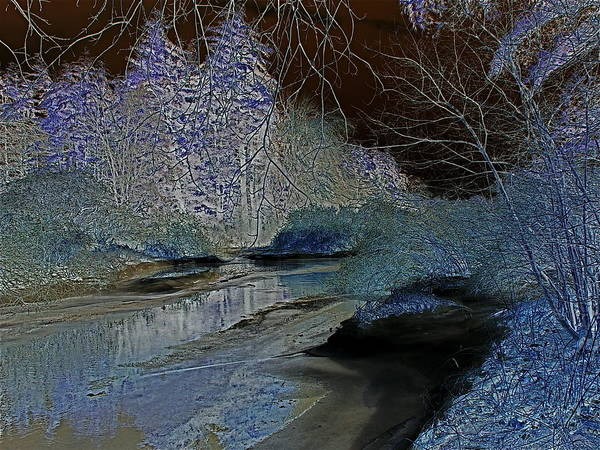 Digital Art Print featuring the photograph Blue Ice by Peter Gray