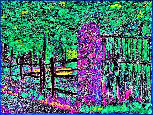 Landscape Art Print featuring the photograph 08f Fences Of Maine by Ed Immar