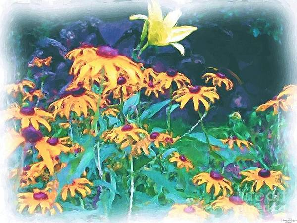 Mixed Media Art Print featuring the painting A Lily In The Field by Patricia Griffin Brett