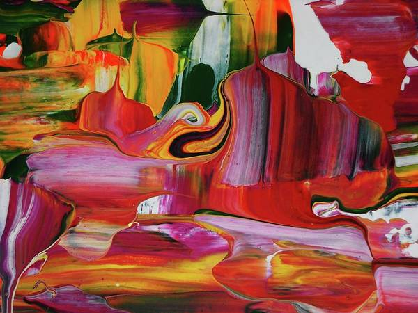 Abstract Art Print featuring the painting Allegria by Adolfo hector Penas alvarado