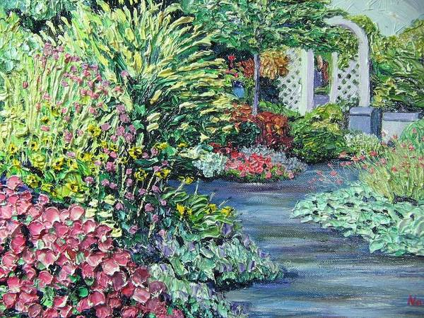 Garden Art Print featuring the painting Amelia Park Pathway by Richard Nowak