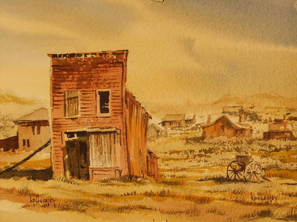 Historic Art Print featuring the painting Bodie California by Kevin Heaney