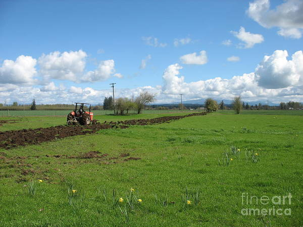 Tractor Art Print featuring the photograph Breaking Ground by Juli House