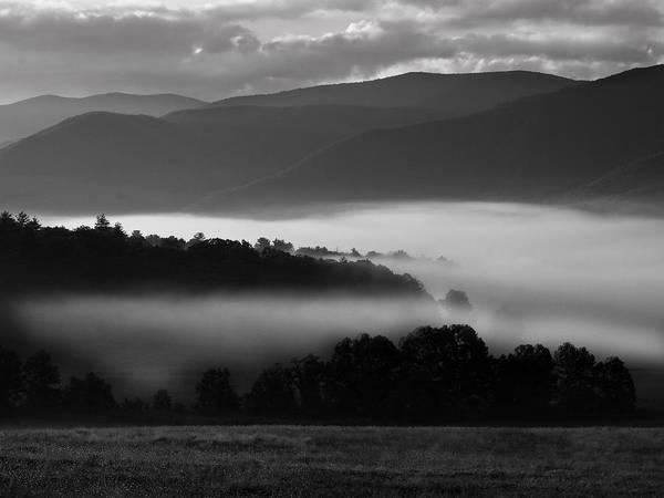 Cades Cove Art Print featuring the photograph Cades Cove Dawn by Ron Plasencia