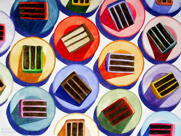 Cake Art Print featuring the painting Cake For Everyone by Cory Clifford