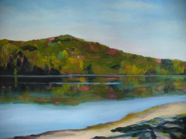 Lake Art Print featuring the painting Deer Lake by Joe Lanni