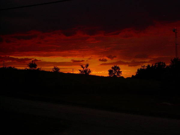 Landscape Art Print featuring the photograph Fire In The Sky by James Michael Harrington