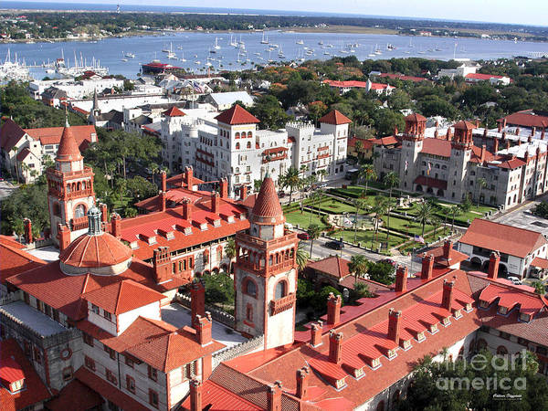 Flagler College Art Print featuring the painting Flagler College by Addison Fitzgerald