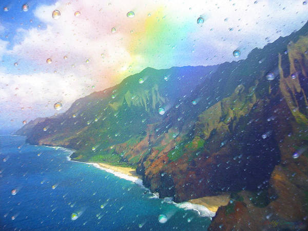 Rainbow Art Print featuring the painting Inside A Rainbow by Robby Donaghey