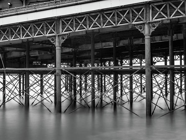 Black And White Image Art Print featuring the photograph North Pier Blackpool by Mike Walker