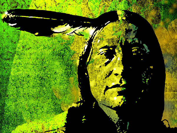 Native American Art Print featuring the painting Scabby Bull by Paul Sachtleben