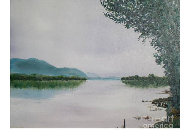 River At Dusk Art Print featuring the painting Shenandoah River by Hal Newhouser
