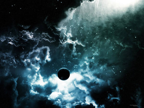 Space Art Print featuring the digital art Space by Rose Lynn