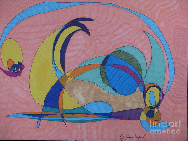 Abstract Art Print featuring the mixed media Susan's Prism by James Sheppardiii